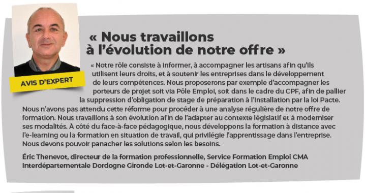 Éric Thenevot CMA Interdépartementale Dordogne Gironde Lot-et-Garonne.