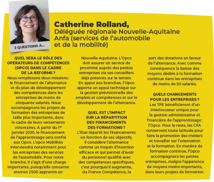 Catherine Rolland, Déléguée régionale Nouvelle-Aquitaine Anfa.