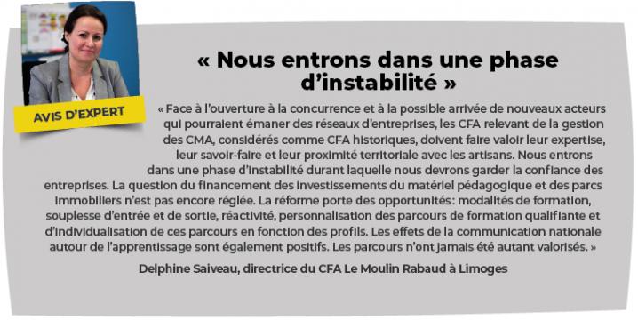 Delphine Saiveau, directrice  du CFA Le Moulin Rabaud à Limoges