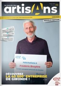 Une du Monde des Artisans 130 édition de la Gironde