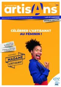 Une du Monde des Artisans 141 Edition Lot-et-Garonne