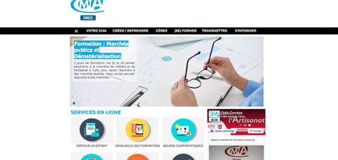 Le site Internet de la CMA Corrèze a fait peau neuve!