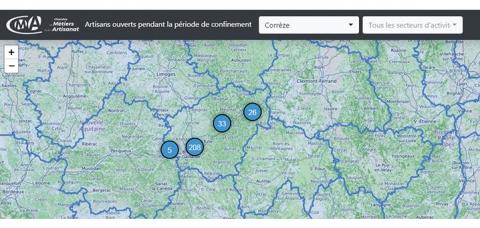 Carte interactive: plus de 285 entreprises Corréziennes